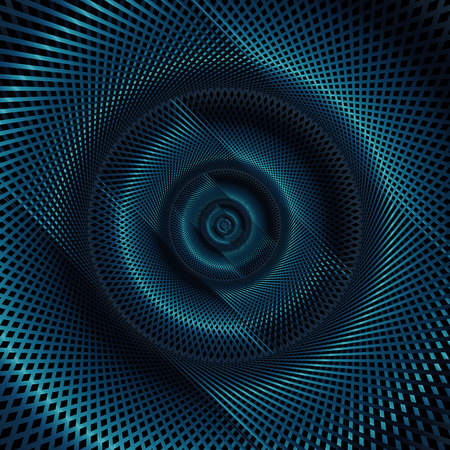 chrome: Abstract technology concept, moving radial lines background with stylish dark blue color tones. Illustration