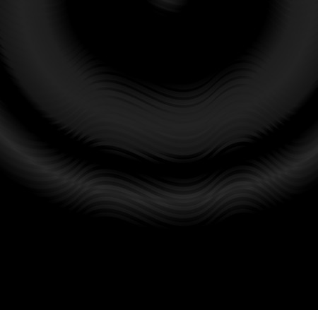 Black and white zigzag wavy lines, dark color tone vector background.