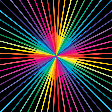 Colorful striped lines starburst & sunburst background, vector design.