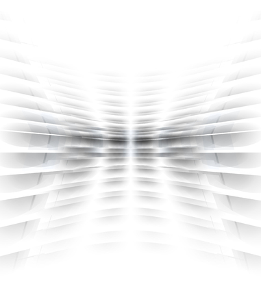 Abstract perspective background with white & grey tones Black and white empty perspective background. Product stand, ad banner.