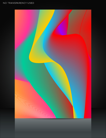 Abstract colorful wavy lines abstract background. Ideal for brochure & flyer designs, cover templates. 일러스트