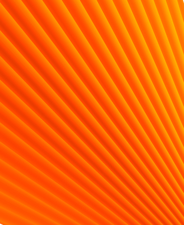 Yellow and orange striped 3d lines, simple & sparse background. Ideal for brochure & flyer cover template, layout.