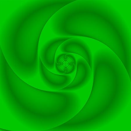 Green color, eco concept deep perspective swirl background. Gradient art vector illustration.