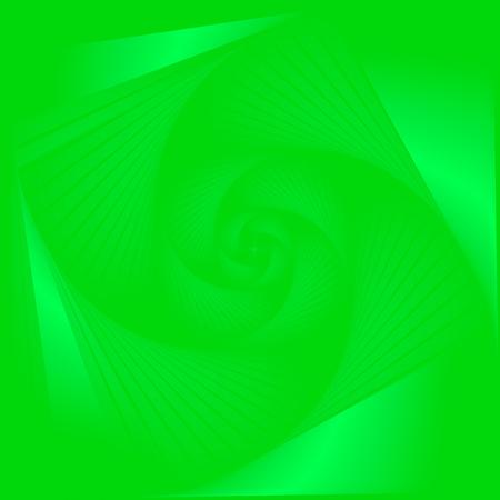 Vibrant & vivid green color tone, deep perspective swirl background.