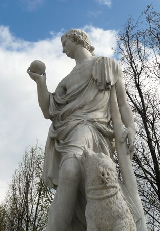 Vienna, Austria - March 31, 2012: Statue of mythological hero Paris in Schonbrunn Palace garden.
