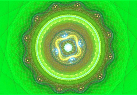 Green mandala  Stock Photo - 13478423
