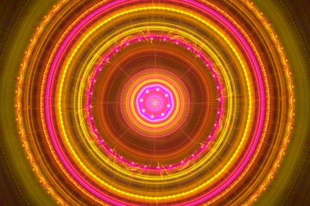 Pink and yellow mandala Stock Photo - 15352824