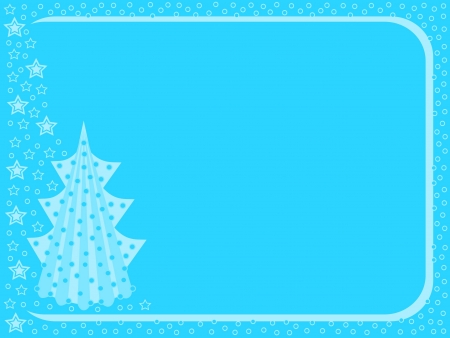 Christmas card with Christmas tree Vector