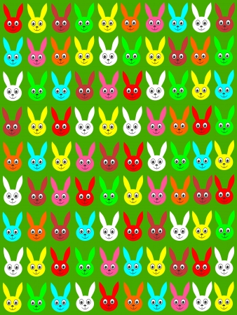 Easter background with Easter Bunnies Vector