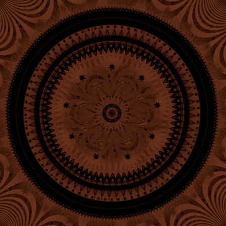 Dark ornamental mandala - rough texture photo