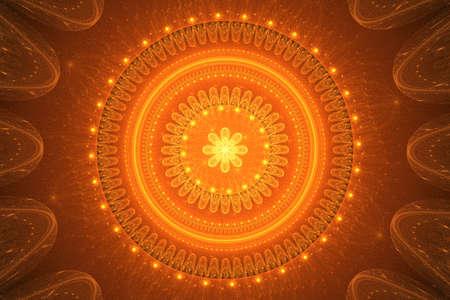 textured: Textured vivid mandala