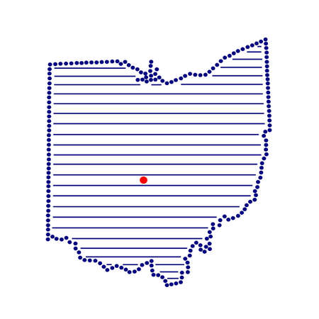 marked: Stylized map of Ohio with marked capital