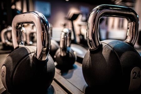 Kettle bells in a Gym 写真素材
