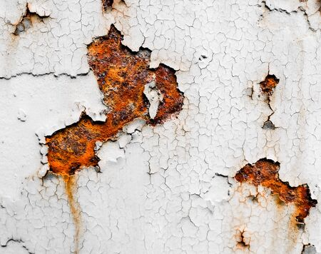 Rust close up against a white wall