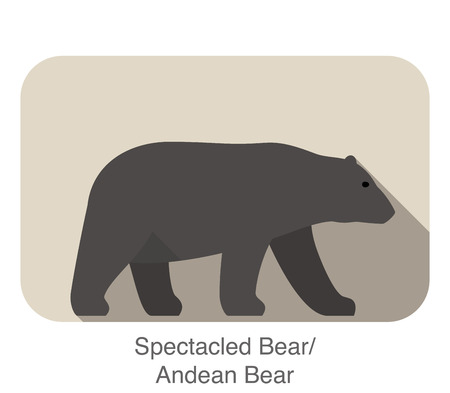 Andean bear walking silhouette icon design Vector