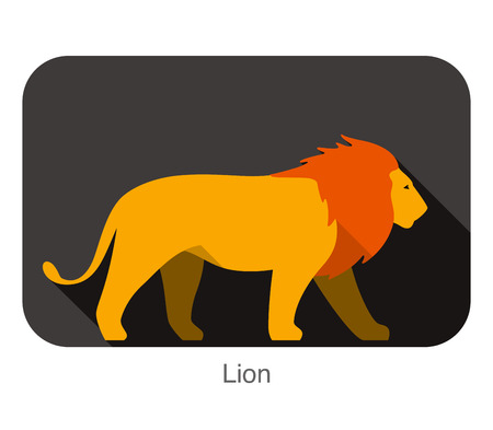 Walking lion silhouette icon design Vector