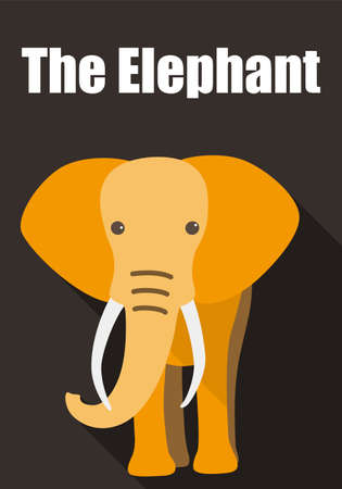 elefante cartoon: Elefante que recorre a usted, icono del dise�o 3D plana