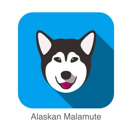alaskabo: Alaskan Malamute dog character Illustration