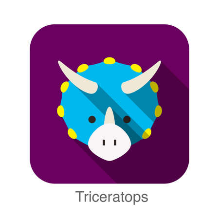 triceratops: Triceratops Dinosaur animal ui flat design Illustration