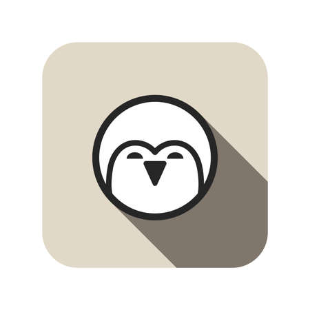 face to face: penguin face flat icon
