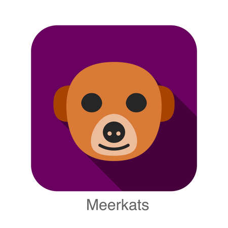 mongoose: Meerkats animal face icon
