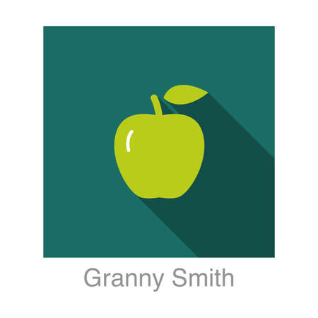 smith: Granny Smith apple   flat icon