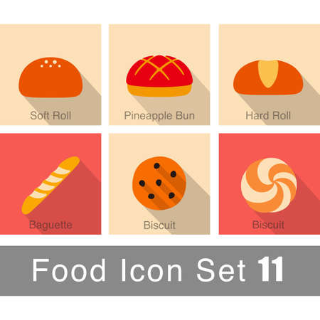 pastry: pastry icon set Illustration