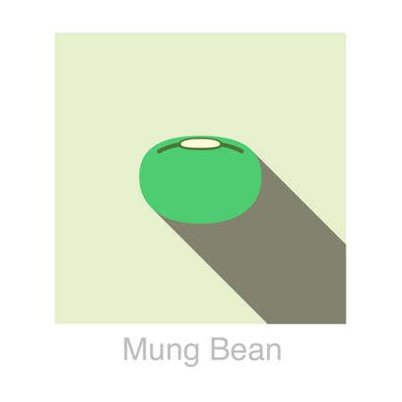 mung bean: Mung bean flat icon
