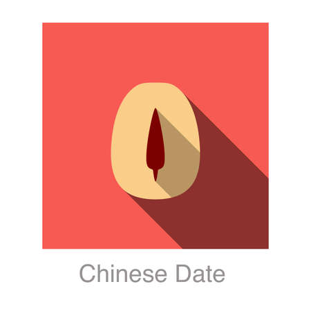 date: Chinese date flat icon  Illustration