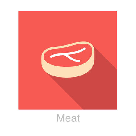 meat food: meat food flat icon
