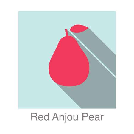 anjou: Red Anjou Pear flat icon