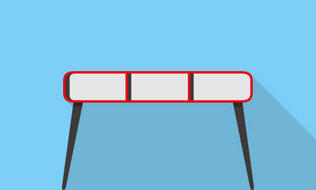 front desk: Single Desk flat icon design