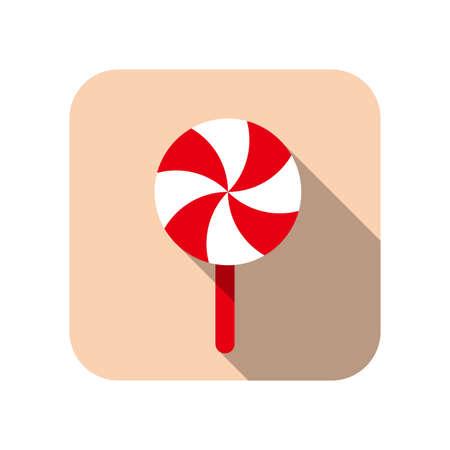 caramelos navidad: Christmas candy flat icon
