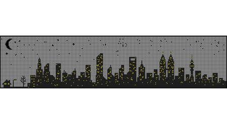 night: Modern city night Illustration