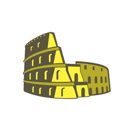 europe closeup: Colosseum, Landmark of the world series Illustration