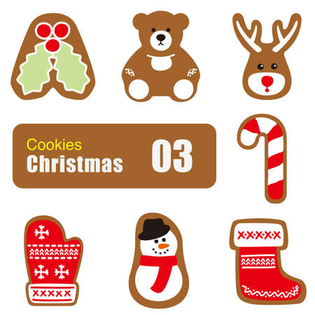 christmas cookies: Christmas cookies, biscuit icon Illustration