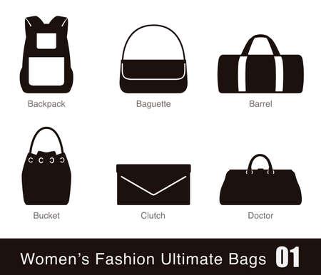 womens fashion: womens fashion ultimate bags, vector