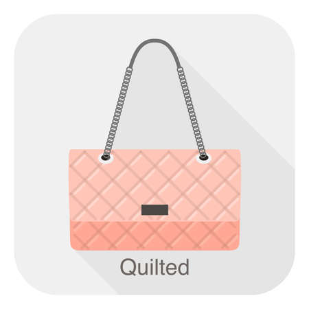 quilted: Fashion girls handbag series, vector, quilted bag Stock Photo