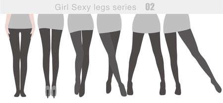 sexy young girl: сексуальная девушка серия нога, вектор