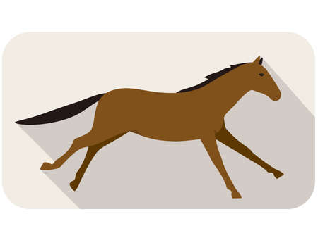 animal silhouette: animal horse series, running, vector