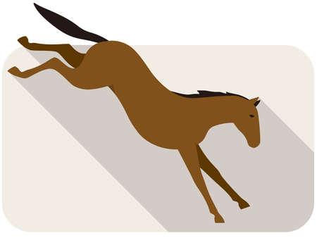 shape silhouette: animal horse series, running, vector