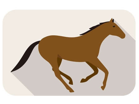 person silhouette: animal horse series, running, vector