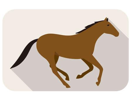 human silhouette: animal horse series, running, vector