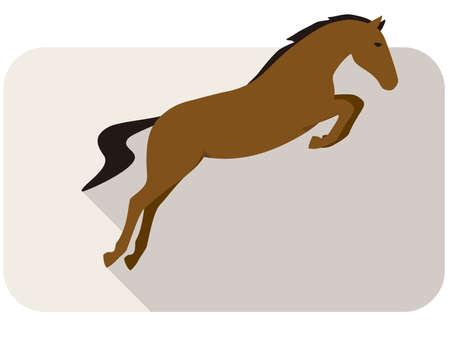 shape silhouette: animal horse series, running