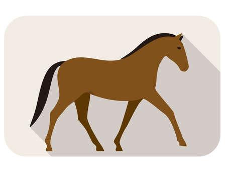 shape silhouette: animal horse series, walking, vector