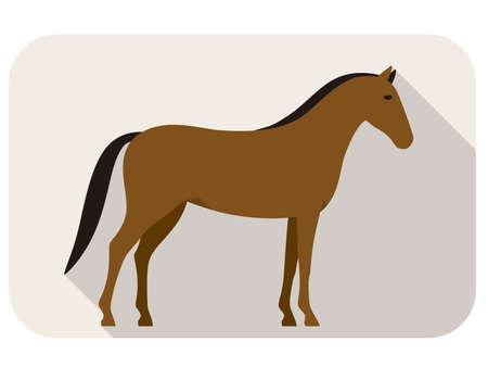 silueta humana: serie animal caballo, de pie, vector