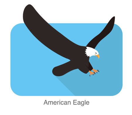 subduction: American eagle flying icon