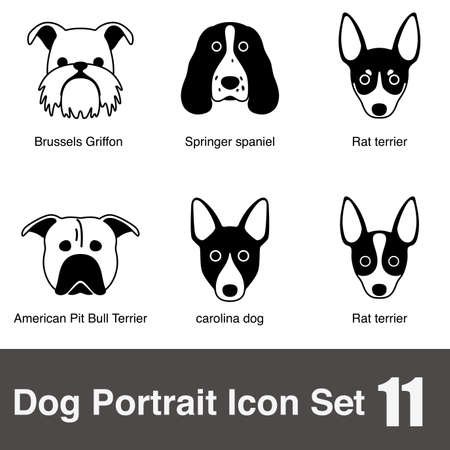 griffon: Dog face character icon design series