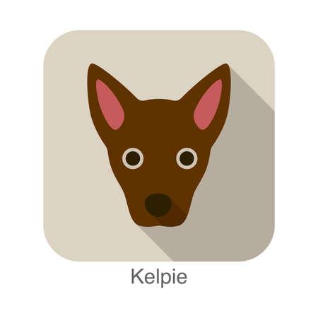 kelpie: kelpie dog character, dog breed series