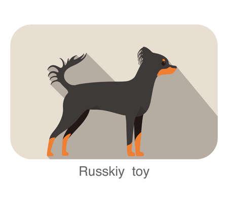 russkiy: Russkiy toy terrier standing and watching